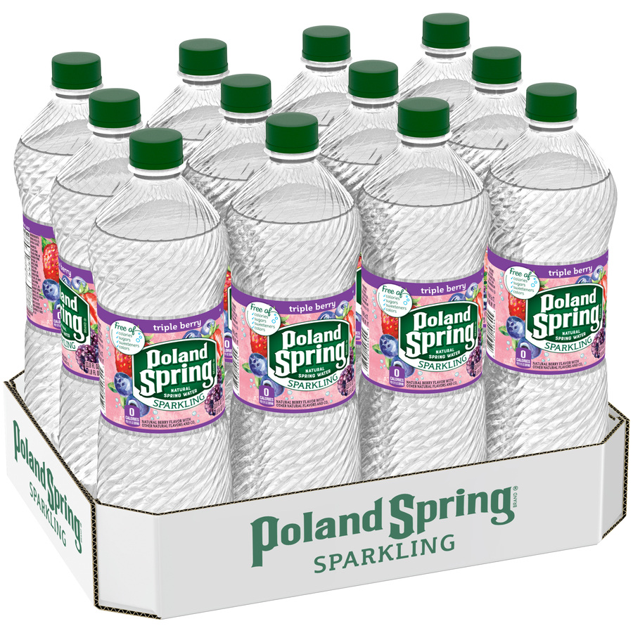 POLAND SPRING Sparkling Natural Spring Water Triple Berry