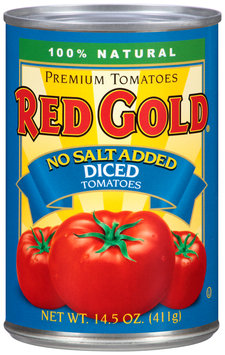 Red Gold® No Salt Added Diced Tomatoes 14.5 oz. Can