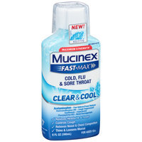Mucinex® Fast-Max® Clear & Cool™ Maximum Strength Cold, Flu & Sore Throat 6 fl. oz. Plastic Bottle