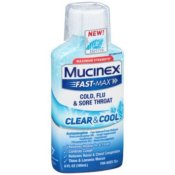 Mucinex® Fast-Max® Clear & Cool™ Maximum Strength Cold, Flu & Sore Throat