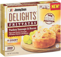 Jimmy Dean Delights® Turkey Sausage & Bacon Frittatas 6 ct Box