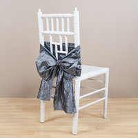 Eziba Crushed Chair Tie Color: Pewter