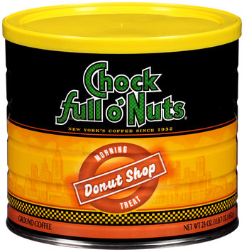 Chock full o' Nuts® Morning Treat Donut Shop Ground Coffee 23 oz. Canister