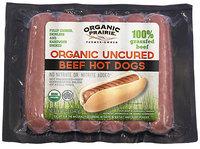 Organic Prairie Beef Hot Dogs Organic Uncured 100% Grassfed 12 oz Wrapper