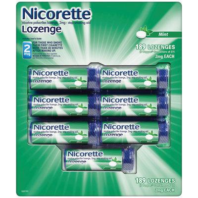 NICORETTE Lozenge Mint Flavor 2mg Poppacs Stop Smoking Gum 189 CT BOX