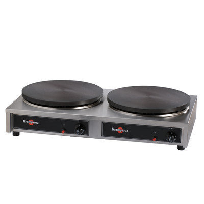Apothecary Double Gas Cast Iron Crepe Griddle
