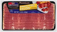 Plumrose® Premium Hardwood Smoked Smokey Maple Bacon 12 oz. Package