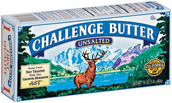 Challenge Unsalted  Butter 16 Oz Box