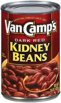 Van Camp's  Dark Red  Kidney Beans 15 Oz Can