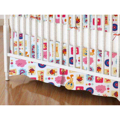 Stwd Baby Tweety Crib Skirt Color: White