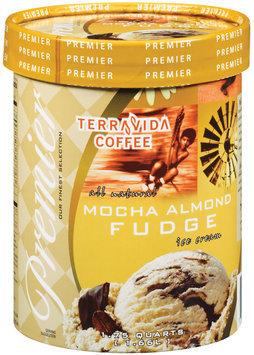 Haggen Premier Terravida Coffee All Natural Mocha Almond Fudge Ice Cream 1.75 Qt Carton