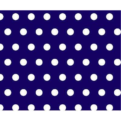 Stwd Polka Dots Portable Mini Fitted Crib Sheet Color: Royal