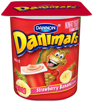 Danimals Nonfat Yogurt Strawberry 4 Oz 4 Ct
