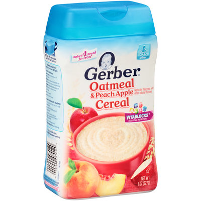 Gerber® Oatmeal & Peach Apple Cereal 8 oz. Canister