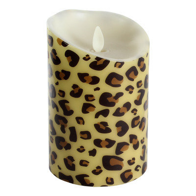 Luminara Cheetah Pattern Flameless 5