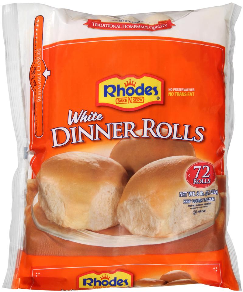 Rhodes Bake-N-Serv® Frozen White Dinner Rolls Dough 72 ct Bag