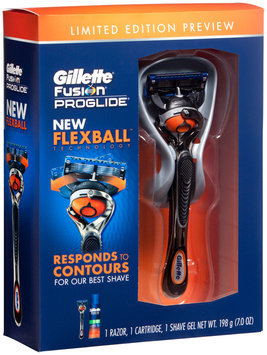 Gillette Fusion ProGlide Manual Men's Razor with FlexBall Handle Technology and 1 Razor Blade + ProGlide Sensitive Shaving Gel 7 Oz - Father's Day Special Pack