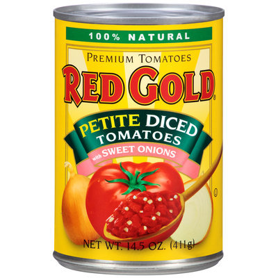 Red Gold® Petite Diced Tomatoes with Sweet Onion 14.5 oz. Can