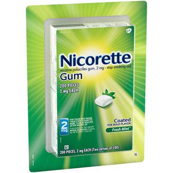 Nicorette® 2mg Fresh Mint™ Stop Smoking Aid Gum 200 ct Box