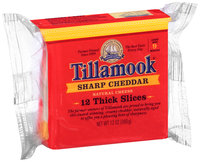 Tillamook® Sharp Cheddar Thick Slices Cheese 12 ct 12 oz Wrapper