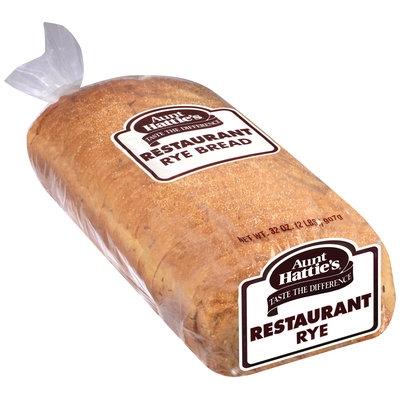 Aunt Hattie's® Rye Restaurant Bread 32 oz. Package