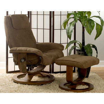Wade Logan Templeville Reclining Heated Massage Chair with Ottoman
