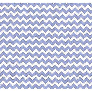 Sheetworld Chevron Zigzag Portable Mini Fitted Crib Sheet Color: Baby Blue