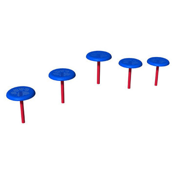 Ultra Play Blue and Red Dog Park Stepping Platforms PBARK-470P