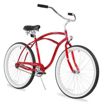 Firmstrong Men's Urban Man Classic Beach Cruiser Bike Color: Red