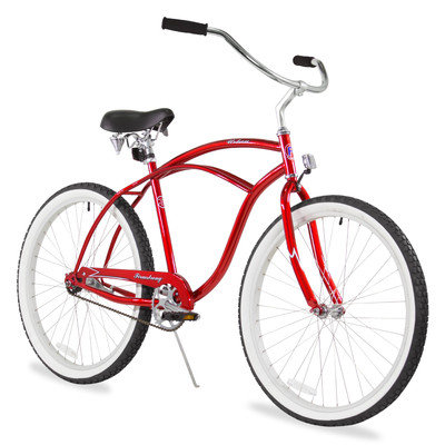 Firmstrong Men's Urban Man Classic Beach Cruiser Bike Color: Red