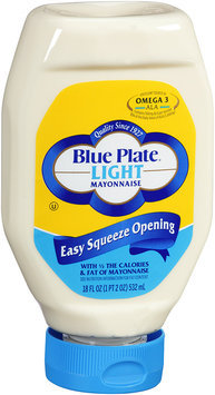 Blue Plate® Light Mayonnaise Easy Squeeze Opening 18 fl. oz. Bottle