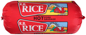 R.B. Rice® Hot Pork Sausage 16 oz. Chub