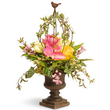 National Tree Co. Spring Floral Birdcage
