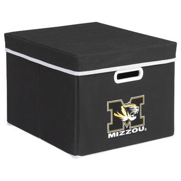 MyOwnersBox College STACKITS University of Missouri 12 in. x 10 in. x 15 in. Stackable Black Fabric Storage Cube 12018003CMIS
