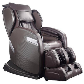 Ogawa Active Supertrac Faux Leather Zero Gravity Reclining Massage Chair Upholstery: Chocolate