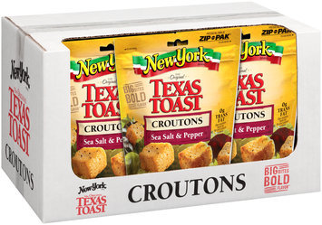 New York Brand® The Original Texas Toast Sea Salt & Pepper Croutons 5 oz. Stand Up Bag