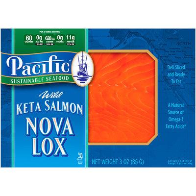 Pacific Sustainable Seafood™ Wild Keta Salmon Nova Lox 3 oz. Sleeve