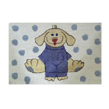 Jovi Home Dress Up Pup Blue/ White Bath Rug