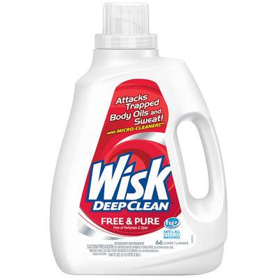 Wisk® Deep Clean™ Free & Pure Laundry Detergent 100 fl. oz. Jug