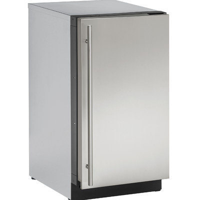 U-Line U2218RS00A 3.6 Cu. Ft. Stainless Steel Undercounter Built-In Compact Refrigerator - Right Hinge