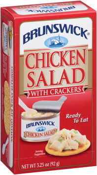 Brunswick® Ready to Eat Chicken Salad with Crackers 3.25 oz. Box