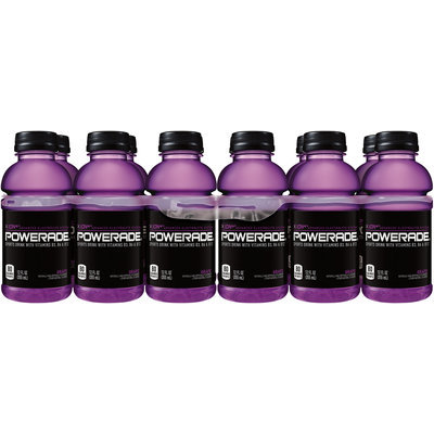 Powerade® ION4® Grape Sports Drink 12-12 fl. oz. Plastic Bottles