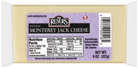 Reser's Fine Foods Natural Monterey Jack Cheese 8 Oz Brick