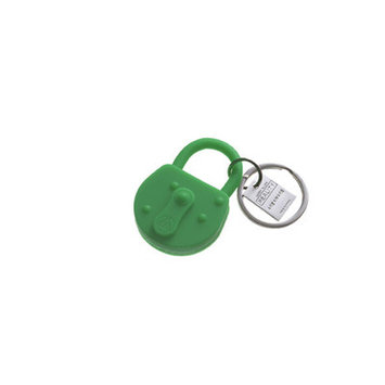 Areaware Lock Keychain Color: Green