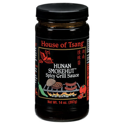 HOUSE OF TSANG  Hunan Smokehut Spicy Grill Sauce 14 OZ JAR