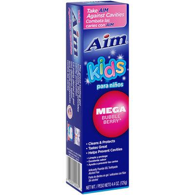 Aim™ Kids Mega Bubble Berry™ Toothpaste 4.4 oz. Box