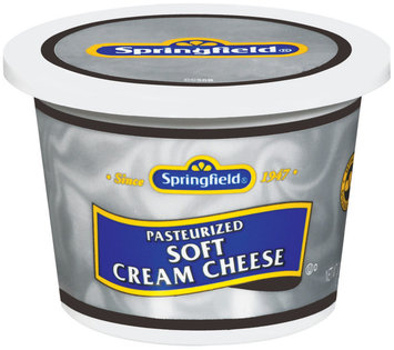 Springfield Soft Cream Cheese 12 Oz Plastic Tub