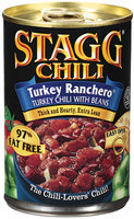 STAGG CHILI Turkey Ranchero W/Beans Chili 15 OZ PULL-TOP CAN