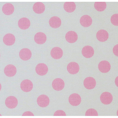 Stwd Polka Dots Portable Mini Fitted Crib Sheet Color: Baby Pink