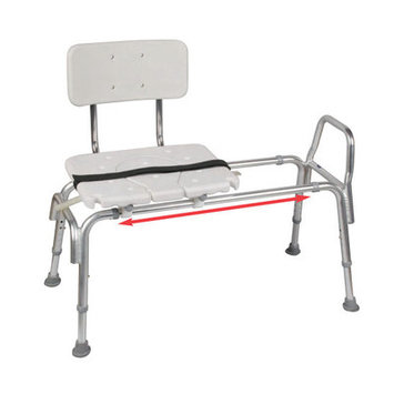 Eagle Health Sliding Transfer Bench with Molded Cut-Out Seat